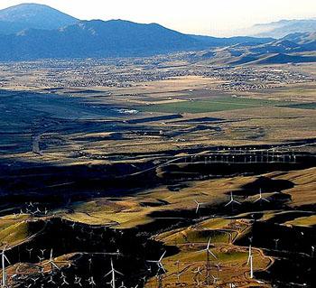 Tehachapi Valley, California.